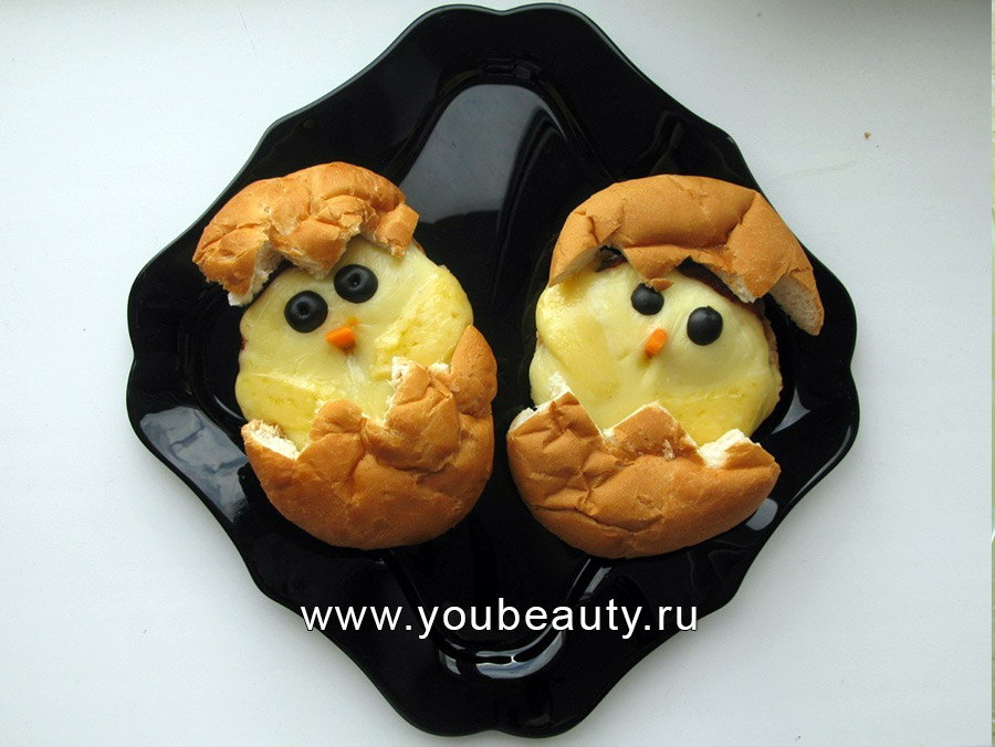 Чудесный завтрак из цыплят :)