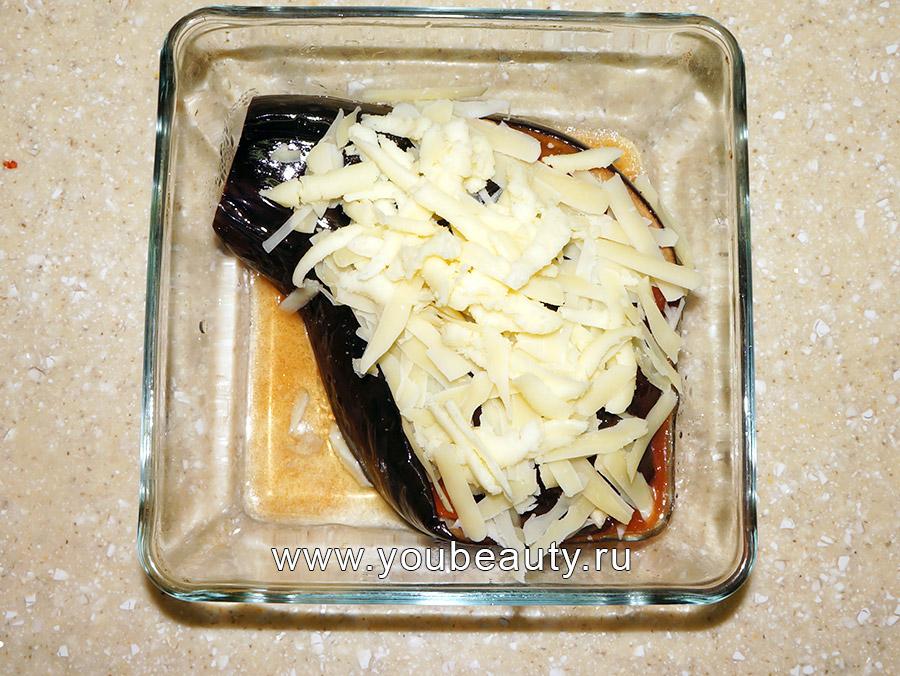 Запечённый баклажан с сыром