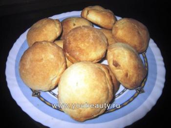 Творожное печенье с яблоком и корицей