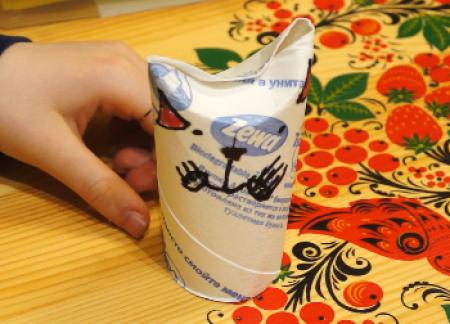 Видео. Котики из туалетной бумаги. Детская поделка